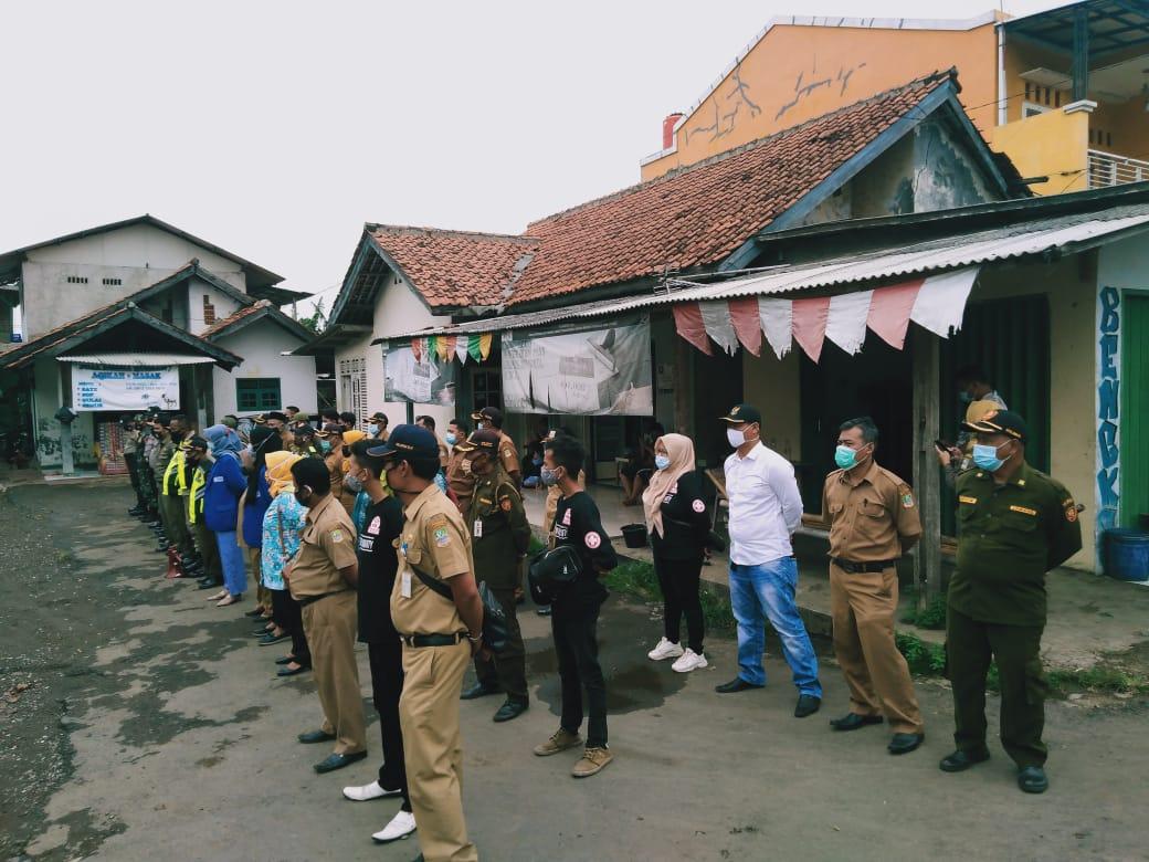 Operasi Yustisi Covid-19 Pemerintah Desa Serang, Kecamatan, dan Polsek Cikarang Selatan